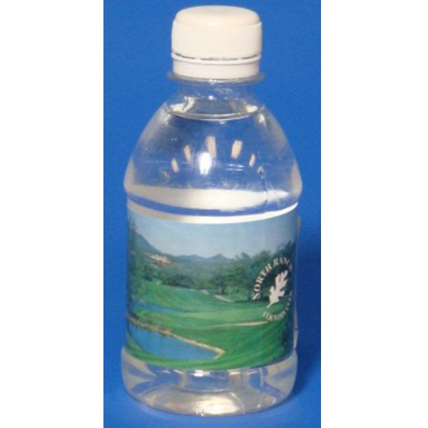 Personalized Customized Label Promotional Bottled Water - Water in bottle made from recycled beverage containers.