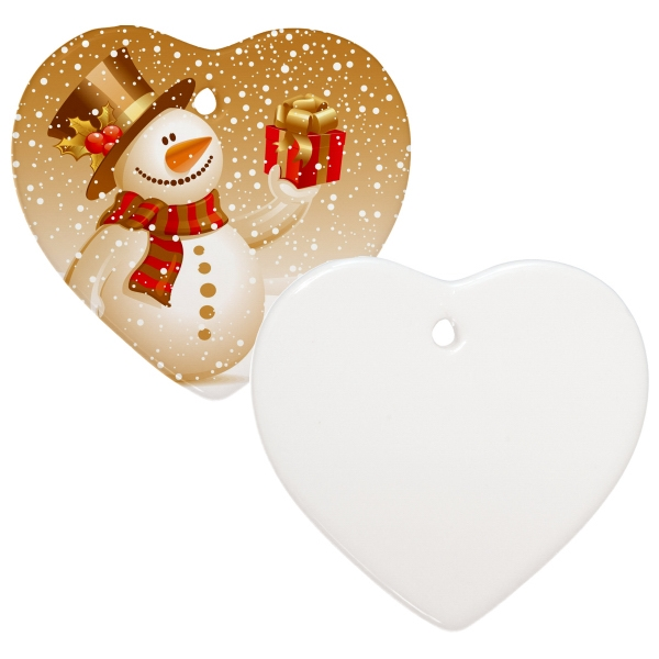 "Sublimation Ornament Is Our Most Popular Holiday Promotional Item, 3"" Heart Photo"