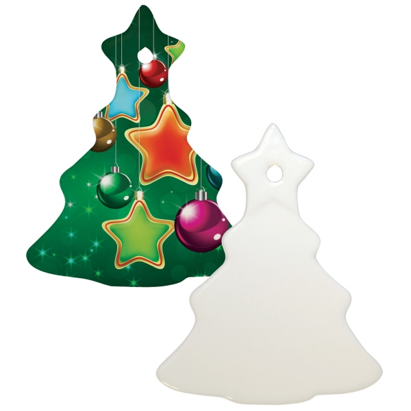"Sublimation Ornament Is Our Most Popular Holiday Promotional Item, 3"" Tree Photo"