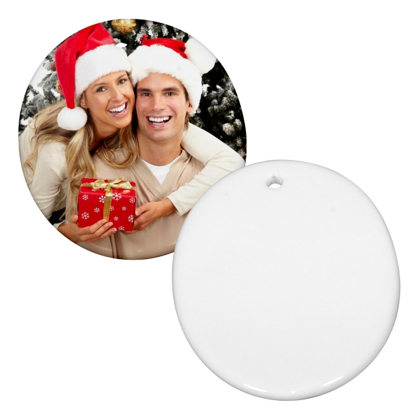 "Sublimation Ornament Is Our Most Popular Holiday Promotional Item, 3"" Oval Photo"