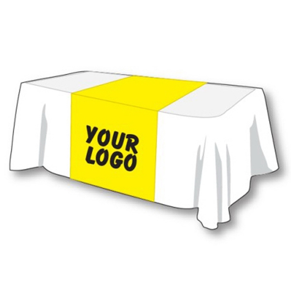 "Table Runner - Polyester table runner 42"" x 88"" perfect for a 6' table, yellow."
