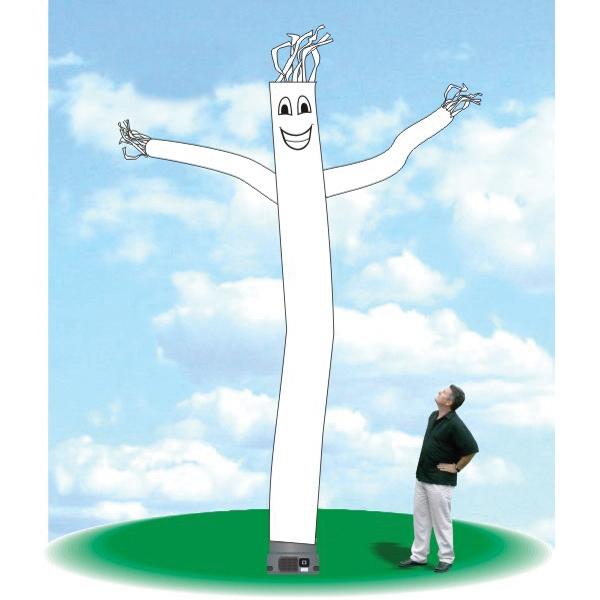 "Air Tube Dancer Balloon 18' Tall Tube Fly Guy White - Air Tube Dancer Balloon 18' tall white tube guy with one 18"" blower."