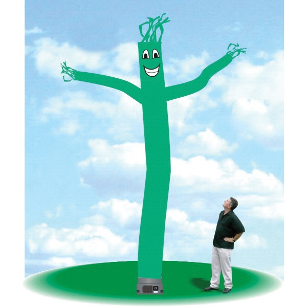 "Inflatable Air Dancers 18' Tall Tube Fly Guy Teal - Air Dancers Balloon 18' tall teal tube guy with one 18"" blower."