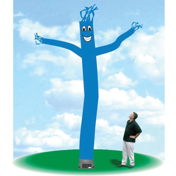 """Inflatable Sky Dancer 18' Tall Tube Fly Guy Sky Blue - Skydancer Inflatable Balloon 18' tall sky blue tube guy with one 18"""" blower."""