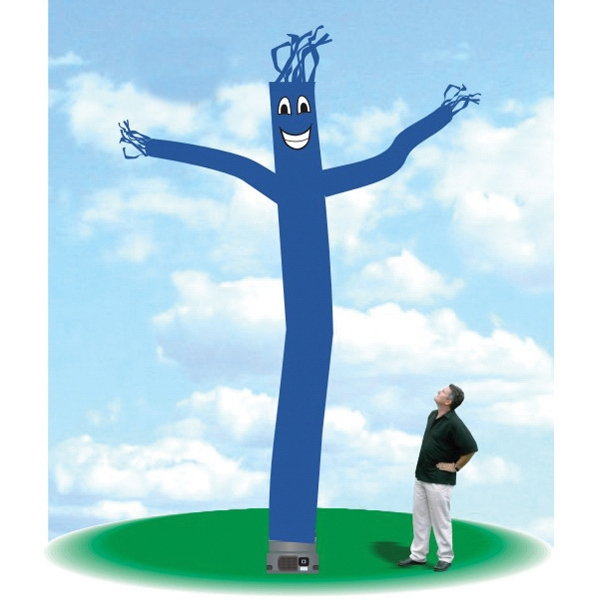 "Inflatable Dancer 18' Tall Tube Fly Guy Royal Blue - Inflatable Dancer Balloon 18' tall royal blue tube guy with one 18"" blower."