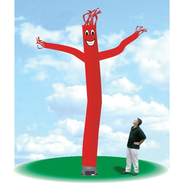 "Inflatable Dancing Airman Balloon Balloon 18' Tall Fly Guy - Dancing Airman Balloon 18' tall red tube guy with one 18"" blower."