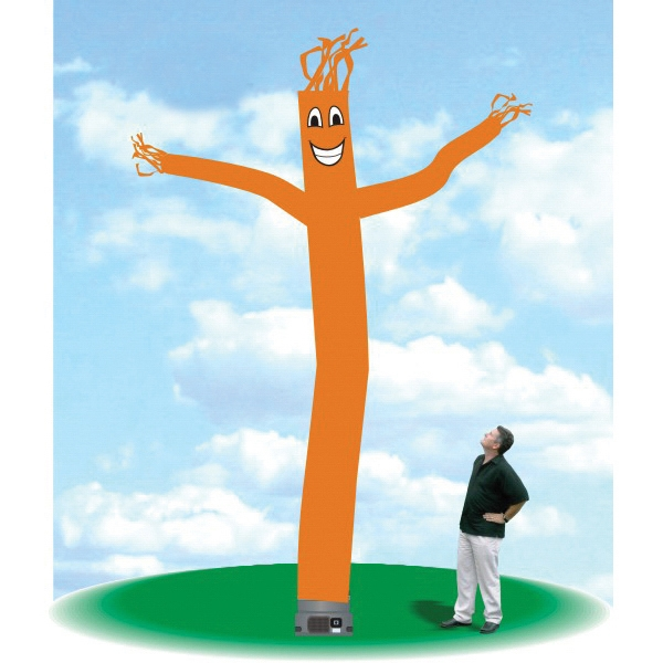 "Inflatable Tube Dancer Balloon 18' Tall Tube Fly Guy Orange - Tube Dancer Balloon 18' tall orange tube guy with one 18"" blower."
