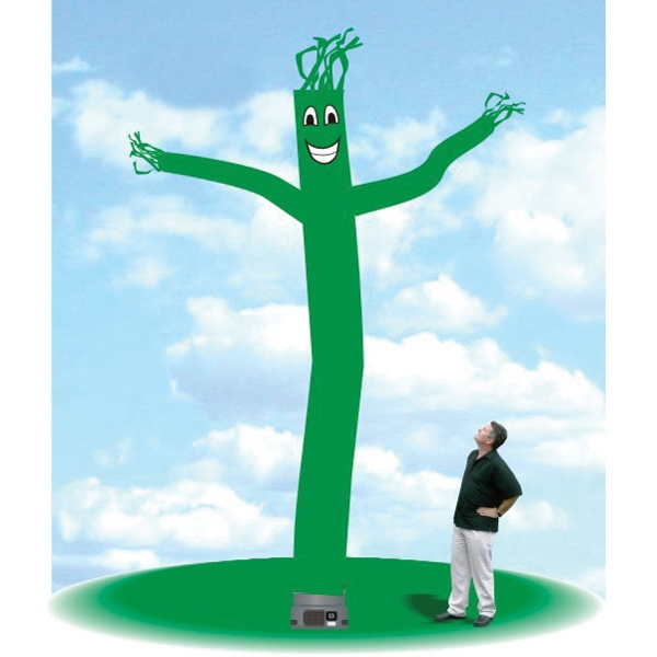 "Inflatable Blow Up Balloon 18' Tall Tube Fly Guy Dancer - Blow Up Balloon 18' tall green tube guy with one 18"" blower."