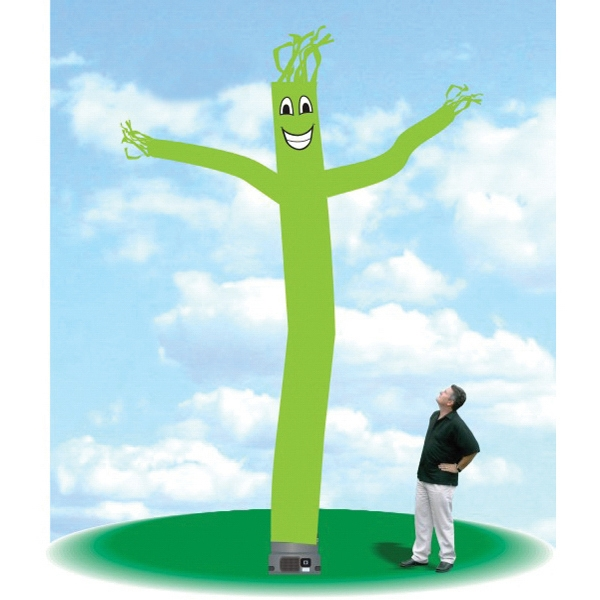 "Inflatable Promotional Balloon 18' Tall Tube Guy Dancer - Promotional Balloon 18' tall fluorescent green tube guy with one 18"" blower."