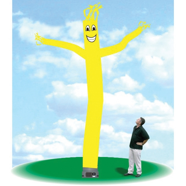 "Inflatable  Air Tube Dancer Balloon 18' Tall Fly Guy Yellow - Outdoor Inflatable Balloon 18' tall yellow tube guy with one 18"" blower."