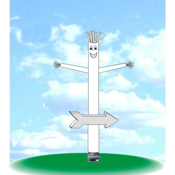 "Inflatable Arrow Dancer Balloon 15' Tall Tube Fly Guy - Arrow dancer, 15' tall with one 18"" blower."