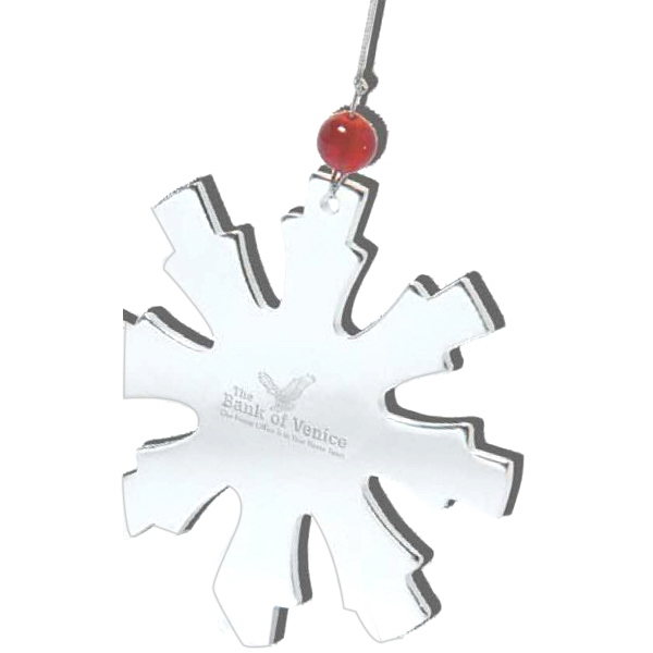 The Glistening Snowflake - Enduring Stainless Steel Snowflake Ornament Photo
