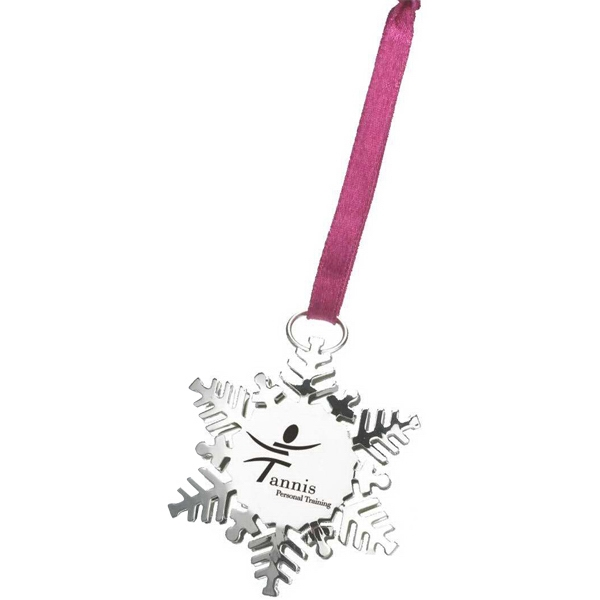 The Holiday Charm - Metallic Snowflake Ornament Photo