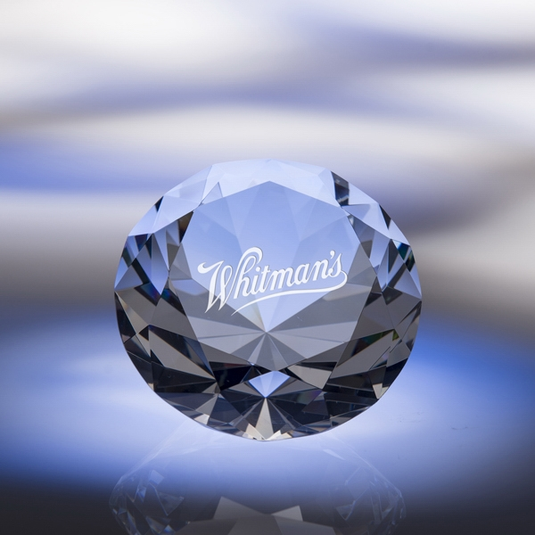 Clear - Diamond Paperweight Made Of Pure Optic Crystal Is True To Form Photo
