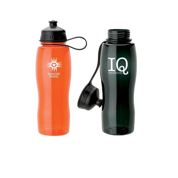 28 Oz. Petg Sport Water Bottle With Pop Up Spout Photo
