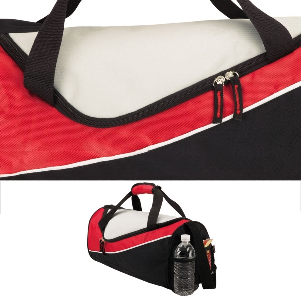 Duffel Bag With Carry Handle And Zippered Main Compartment Photo