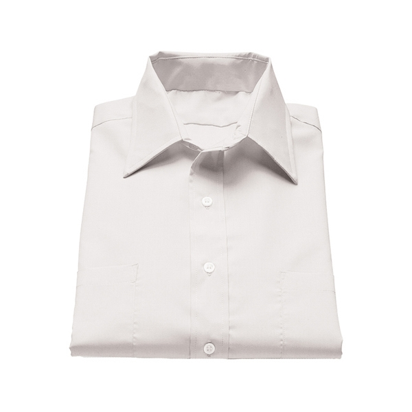 S- X L - Men's Traditional Short Sleeve Broadcloth Shirt Photo
