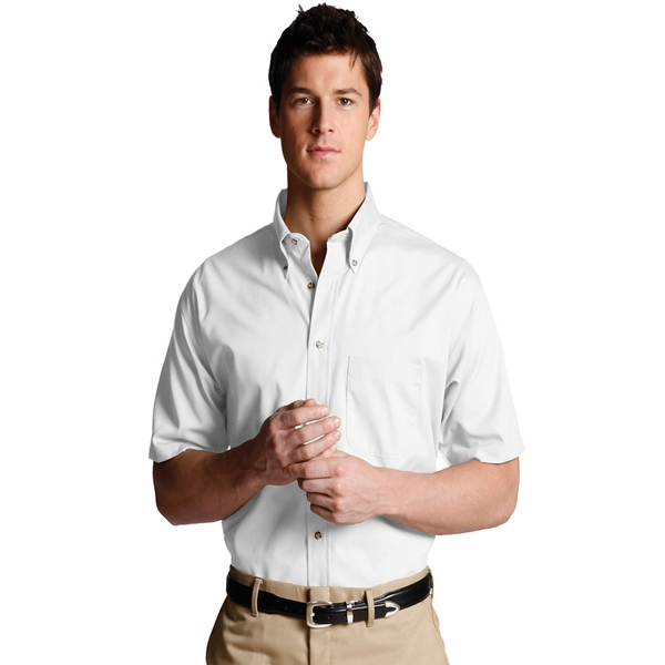 S- X L - Men's Easy Care Poplin Short Sleeve Shirt Photo