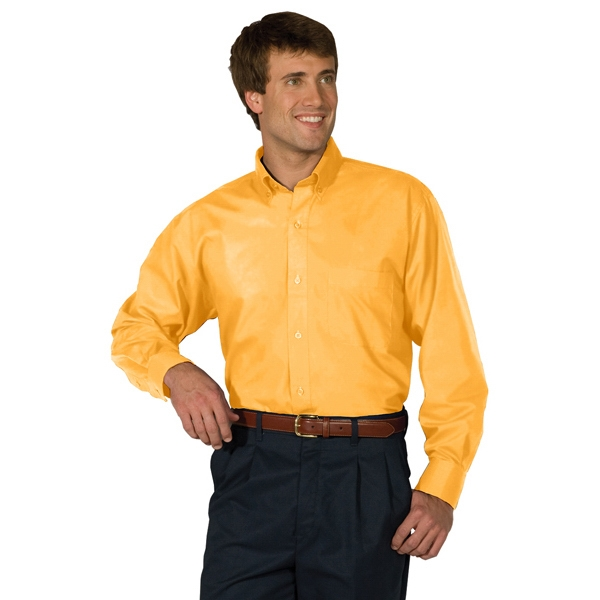 S- X L - Men's Long Sleeve Soft Touch Poplin Shirt Photo
