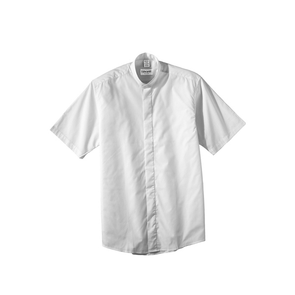 S- X L - Men's Short Sleeve Banded Collar Shirt Photo