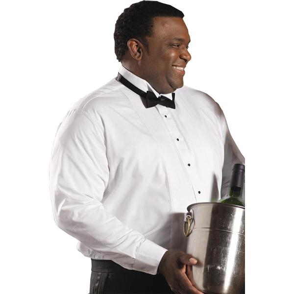 "Men's Wing Collar, 1/8"" Tuxedo Shirt - 31"" Sleeves - Men's wing collar 1/8"" pintuck bib tuxedo shirt with 31"" sleeves."