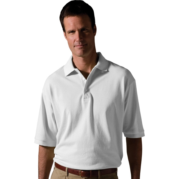 2 X L - Men's Short Sleeve All Cotton Pique Polo Photo