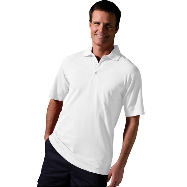 3 X L - 4 X L - Soft Touch Short Sleeve All Cotton Pique Polo With Pocket Photo