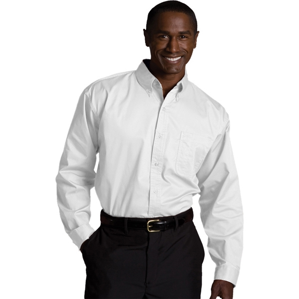 S- X L - Men's Cottonplus Long Sleeve Twill Shirt Photo