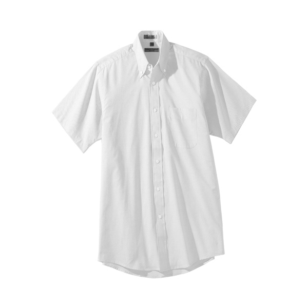 S- X L - Men's Short Sleeve Pinpoint Oxford Shirt Photo