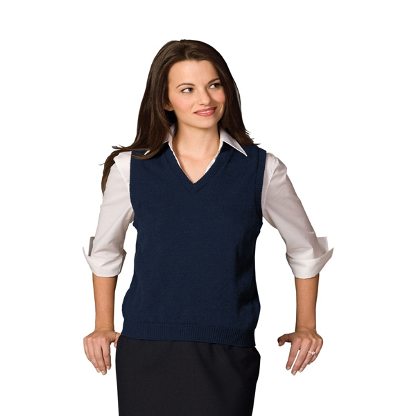 X S- X L - Women's V-neck Vest Made Of 100% Acrylic Photo