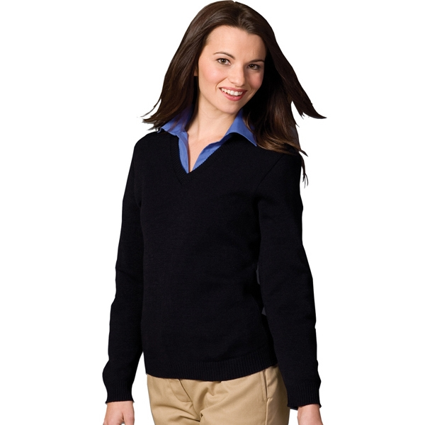X S- X L - Women's V-neck Sweater With Tuff-pil (r) Plus Photo