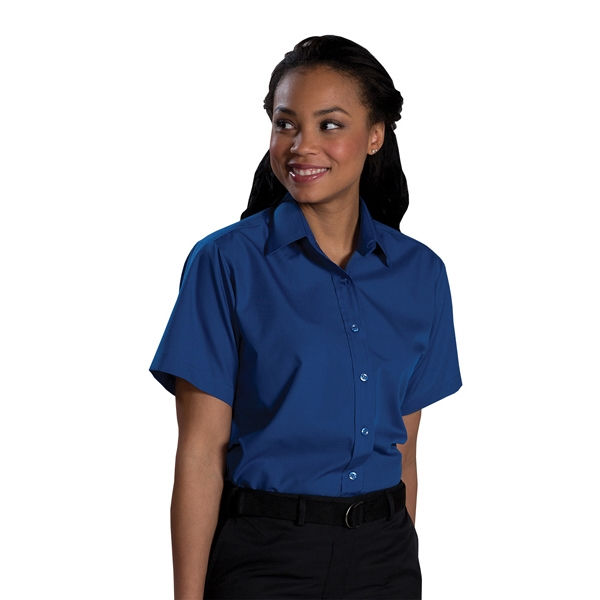 X  X S- X L - Women's Short Sleeve Value Broadcloth Shirt Photo