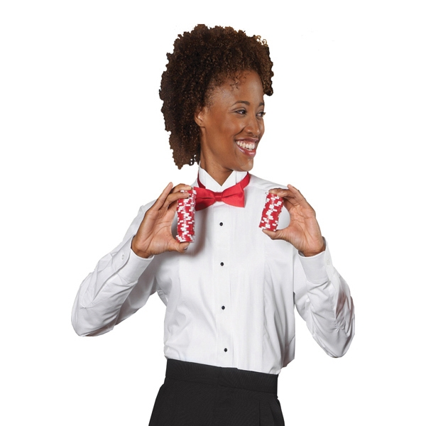3 X L - Women's Tuxedo Shirt Photo