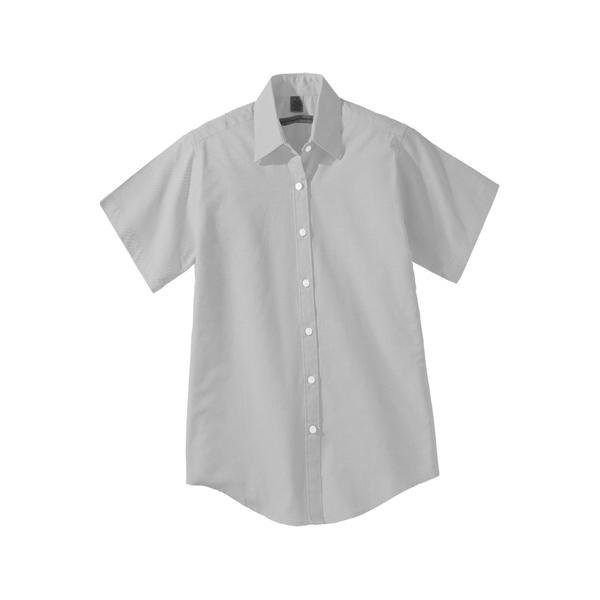 X  X S- X L - Women's Short Sleeve Pinpoint Oxford Shirt Photo