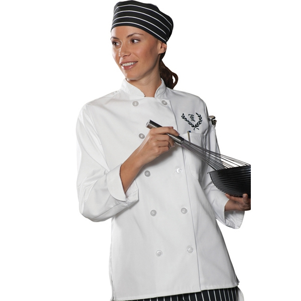 X S- X L - Women's Casual 10 Button Chef Coat Photo