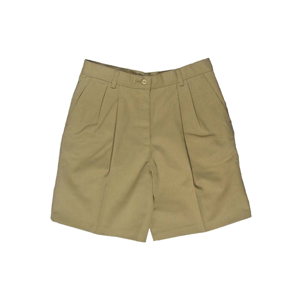 "0-18 - Women's Pleated Shorts With 9""/9 1/2"" Inseam Photo"