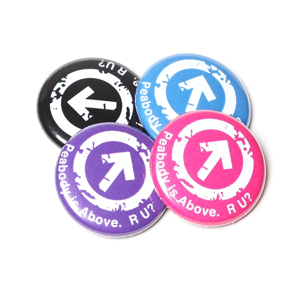 "1"" Round Button with Pin Backing and Mylar Coating"