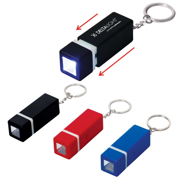 Mini Cubic Flashlight On Key Ring Photo