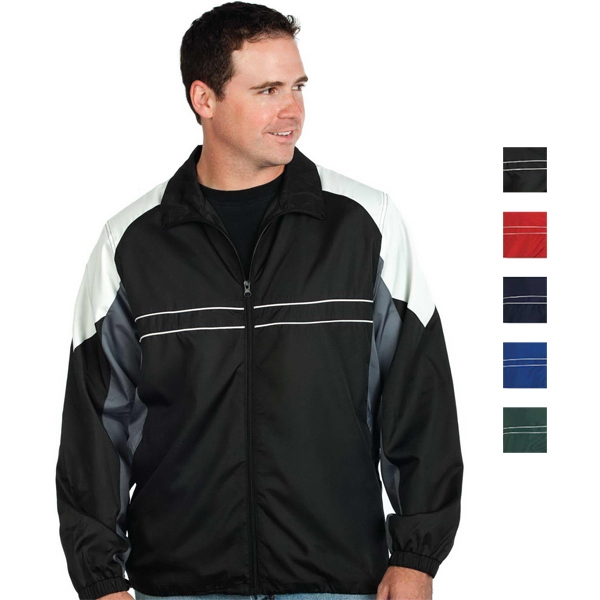 Black - S -  X L - Men's Performance Wind And Water Resistant Polyester Jacket Photo