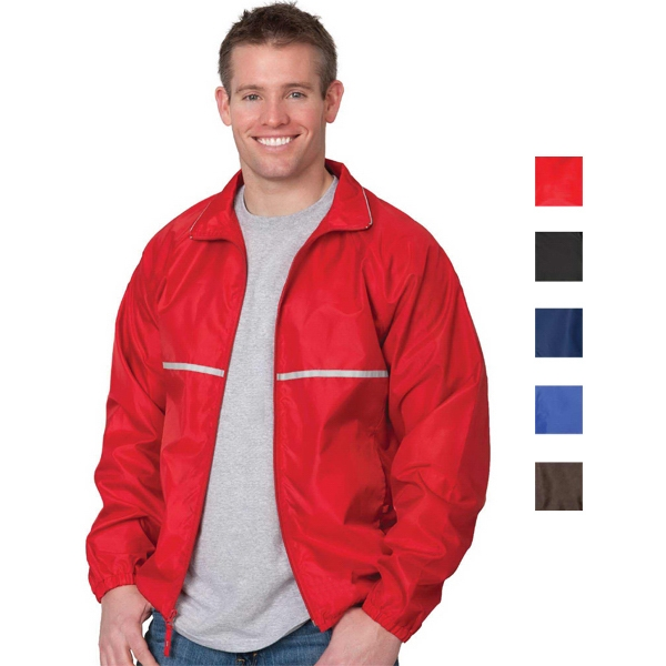 Relay - Red - 2 X L - 3 Oz/ 100gsm 100% Polyester Wind And Water Resistant Jacket Photo