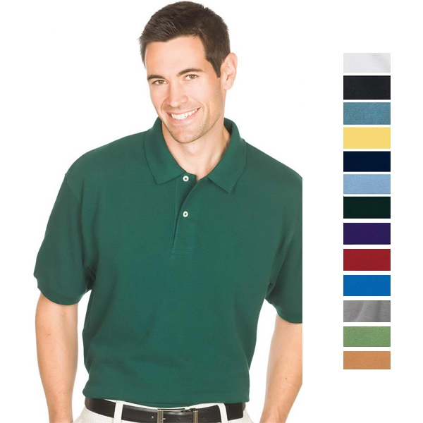 White - S -  X L - 6.8 Oz/ 230gsm 100% Cotton Pique Knit Superior Polo Photo