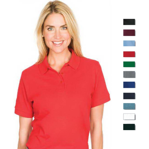 Omni (tm) - White - S -  X L - Ladies' 5.5 Oz/185gsm 60% Cotton/ 40% Polyester Knit Polo Photo