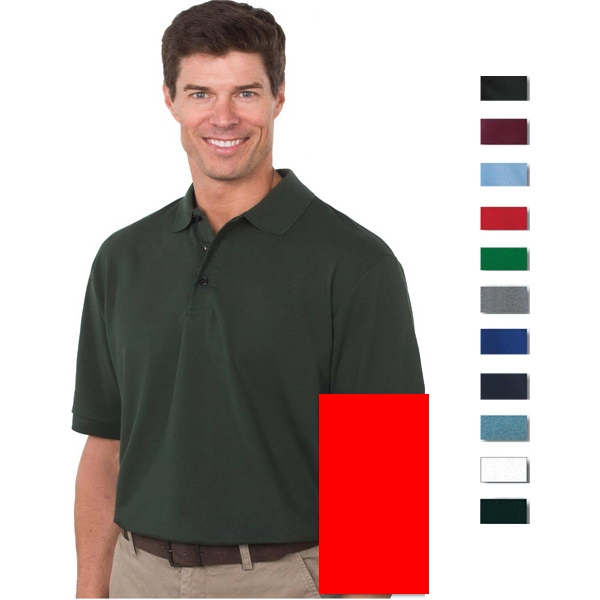 Omni (tm) - White - S -  X L - 5.5 Oz/185gsm 60% Cotton/ 40% Polyester Knit Polo Photo