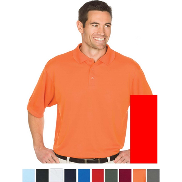 Team - Orange - S -  X L - 4.3 Oz/145gsm 100% Polyester Knit Polo Photo