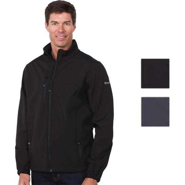 Reebok (r) Playshield (r) - Black - S -  X L - Men's Three Layer Soft Shell Jacket With Top Layer Polyester 4-way Stretch Photo