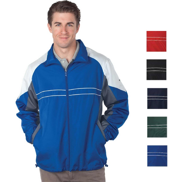 Reebok (r) Performer - Red - S -  X L - 2.9 Oz/ 95gsm 100% Polyester Wind And Water Resistant Jacket Photo