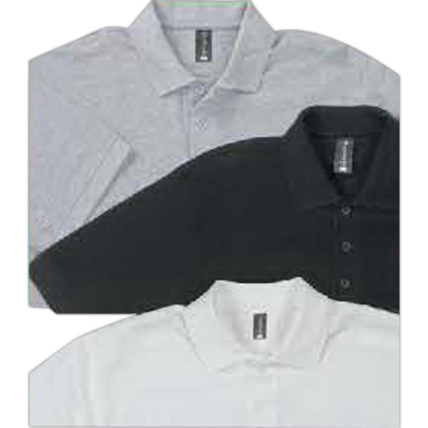 Emergency Services - Heather - 100% Combed Ringspun Cotton Polo Shirt With No Curl Collar. Opportunity Buy Photo