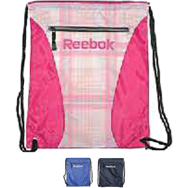 Reebok (r) - Pink-blue Plaid - 210 Nylon Cinch Sack. Opportunity Buy Photo