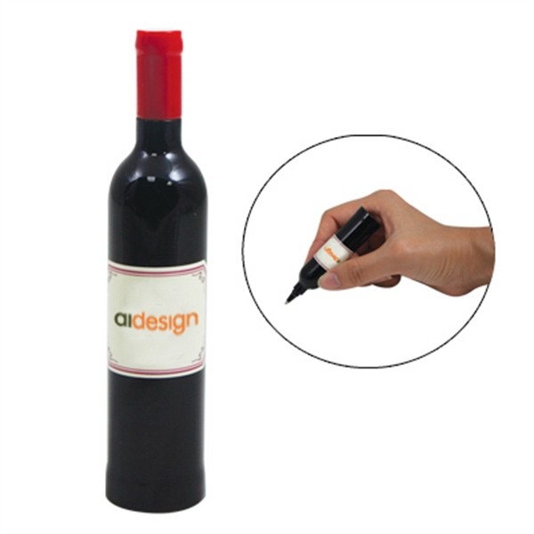 Elegant Wine Bottle Pen