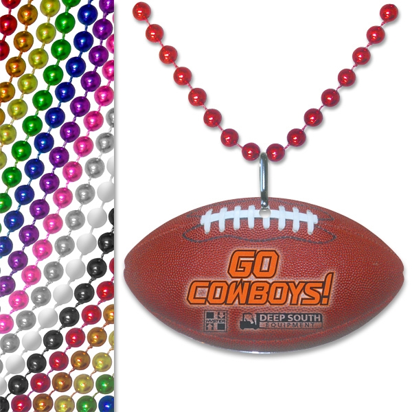Football - Sports Pendant Bead Necklace Photo